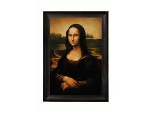 Mona Lisa with Veine D' Or Bronze Scoop - Bronze and Dark Brown Finish - Hand Painted Framed Canvas Art