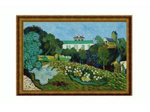 Van Gogh Paintings: Daubigny's Garden with Athenian Gold Frame - Antique Gold Finish - Eco Friendly - Hand Painted Framed ...