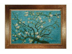 Van Gogh Paintings: Branches Of An Almond Tree In Blossom with Vienna Wood Frame - Broken Gold Leaf Finish - Hand Painted ...