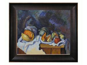 Cezanne Paintings: Still Life with Melons and Apples with Veine D' Or Bronze Scoop - Bronze and Rich Brown Finish - Hand ...