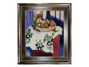 Matisse Paintings: Still Life with Oranges with Natural Creed Frame - Deep Natural Stained Wood - Hand Painted Framed Canvas ...