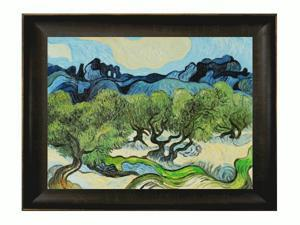Van Gogh Paintings: Olive Trees with the Alpilles in the Background with Veine D' Or Bronze Scoop - Bronze and Rich Brown ...