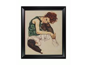 Other Great Artists: The Artist's Wife with Black Satin Frame - Eco Friendly - Hand Painted Framed Canvas Art