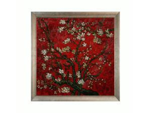 Van Gogh Paintings: Branches of an Almond Tree in Blossom (Interpretation in Red) with Silver Scoop with Swirl Lip - Silver ...