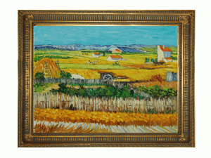 The Harvest with Regal Gold Frame - Gold Finish - Hand Painted Framed Canvas Art