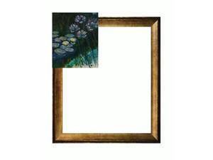Monet Paintings: Water Lilies and Agapanthus with Athenian Gold Frame - Antique Finish - Eco Friendly - Hand Painted Framed ...