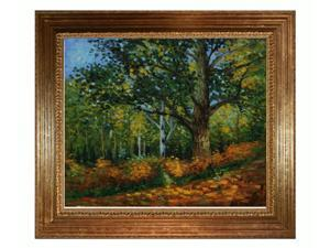 Monet Paintings: Within the Forest with Vienna Wood Frame - Gold Leaf Finish - Hand Painted Framed Canvas Art
