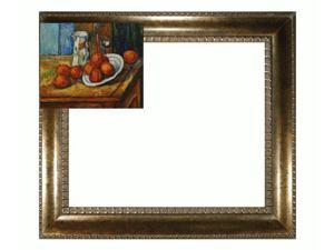 Cezanne Paintings: Bricoo, Bicchiere e Piato with El Dorado Gold Frame - Patterned Dark Gold Finish - Hand Painted Framed ...