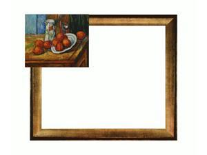 Cezanne Paintings: Bricoo, Bicchiere e Piato with Athenian Gold Frame - Antique Finish - Eco Friendly - Hand Painted Framed ...