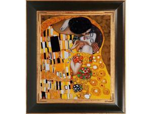 """The Kiss"" by Gustav Klimt Framed Hand Painted Art"