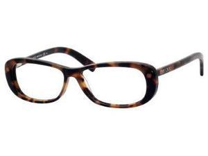 Jimmy Choo 34 Eyeglasses-In Color-Havana Brown-Size-52/13/135