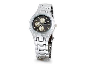 New Mens Silver Tone Gray Link Bracelet Fashion Watch