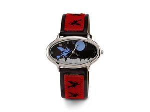 New Women's Red Black Witch Leather Band Wrist Watch