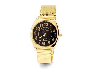 Men's Adjustable Band Gold Tone Quartz Wristwatch