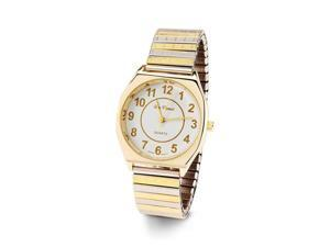 Men's Adjustable Gold Silver Tone Quartz Wristwatch
