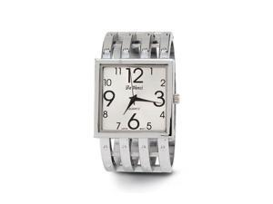 Women's Square Dial Silver Tone Link New Bangle Watch