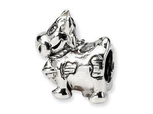 925 Sterling Silver Cow Bell Kids Jewelry Charm Bead