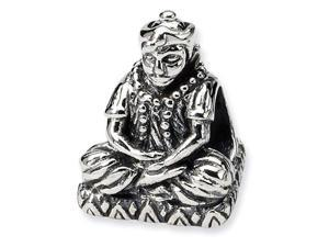 925 Sterling Silver Sitting Buddha Charm Jewelry Bead
