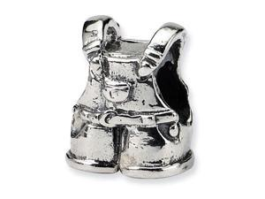 925 Sterling Silver Kids Overalls Charm Jewelry Bead