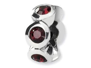 925 Silver Swavorski Crystal Charm June Birthstone Bead