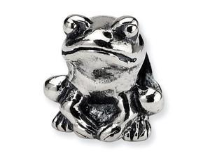 925 Sterling Silver Kids Child Frog Jewelry Charm Bead