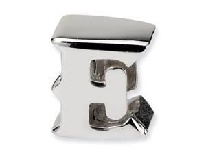 "925 Sterling Silver 7/16"" Charm Letter E Jewelry Bead"
