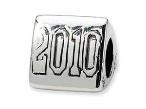 925 Sterling Silver 2010 Graduation School Trilogy Bead