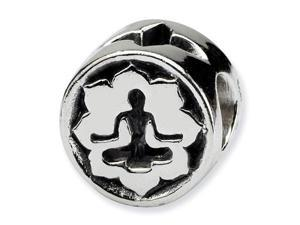 925 Sterling Silver Yoga Lotus Meditation Jewelry Bead