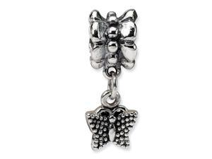 925 Sterling Silver Butterfly Charm Dangle Jewelry Bead