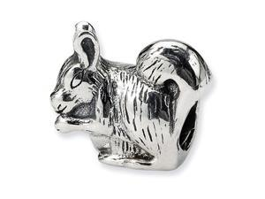 "925 Sterling Silver 3/8"" Squirrel Charm Jewelry Bead"