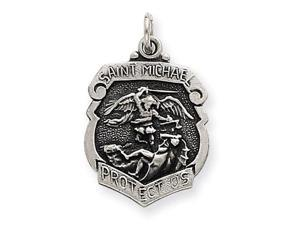 925 Sterling Silver Saint Michael Archangel Pendant