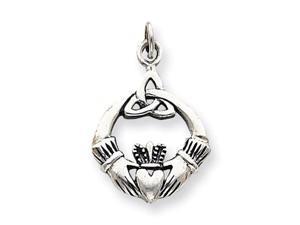 925 Silver Charm Celtic Claddagh Love Trinity Charm