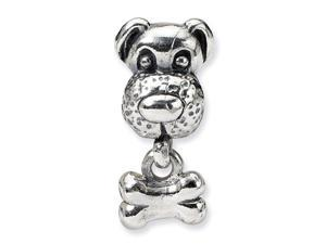 925 Sterling Silver Kids Dog Bone Charm Jewelry Bead