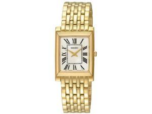 Seiko SUJG22P1 Women's Gold Roman Numerals Stainless Steel Classic Watch