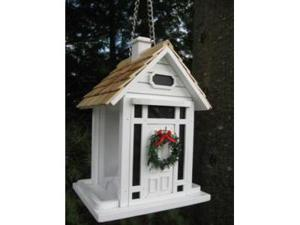 Christmas Cottage Birdfeeder (White)