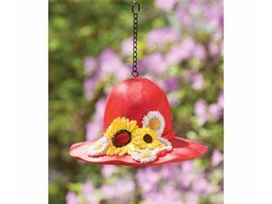 Red Sunflower Hat Bird House