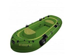 Stansport Fisherman-9, 4-Man Inflatable -Boat Green