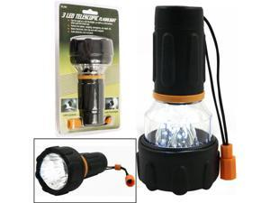 3 LED Flashlight / Lantern Combo - Happy Camper