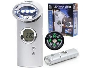 Journey's Edge LED Torch Light w/ Alarm Clock