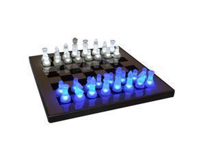 LumiSource SUP-LEDCHES-BW LED Glow Chess Set - OEM
