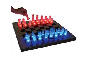 LumiSource SUP-LEDCHES-BR LED Glow Chess Set - OEM