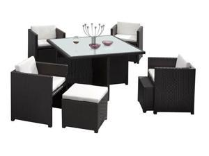 Zuo Modern 701210 Naples Table Set Espresso - OEM