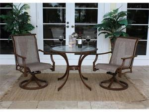 Chub Cay Patio 3 Piece Rocking Chair and Table Set - OEM