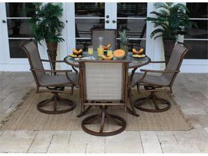 Chub Cay Patio 5 Piece Table and Rocking Chair Set - OEM