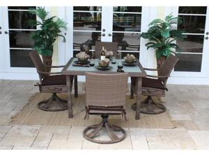 Grenada 5 Piece Square Dining Set with Rocking Chairs - OEM