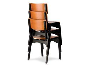 Carlo Black and Wild Cherry Stacking Chair - OEM