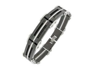 Stainless Steel Bracelet with Black Ion Plating