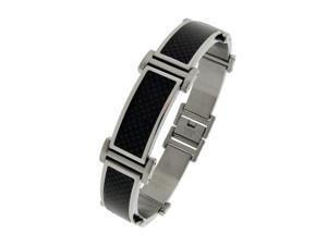 Stainless Steel  Carbon Fiber Bracelet