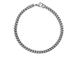 Stainless Steel Thin Foxtail Bracelet