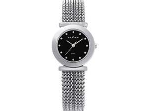 Skagen Steel Mesh White Dial Women's Watch #107SSSB1